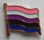 Genderfluid Pride Flag Enamel Pin Badge